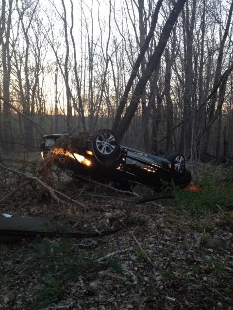 Evening Rollover Accident Mohegan Volunteer Fire Association