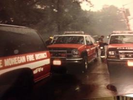 Mohegan FD Chief Car and Utilities At Ground Zero With Relief Crews