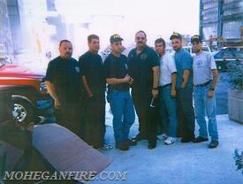 (L to R) FF Clark, FF Hickey, FF Stretz, DC Brown, FF Gravius Sr, FF Velders, FF Gravius Jr