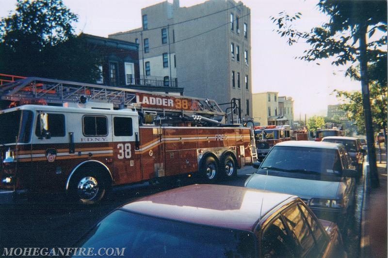Mohegan FD Operating With FDNY In Bronx on 9/12/01