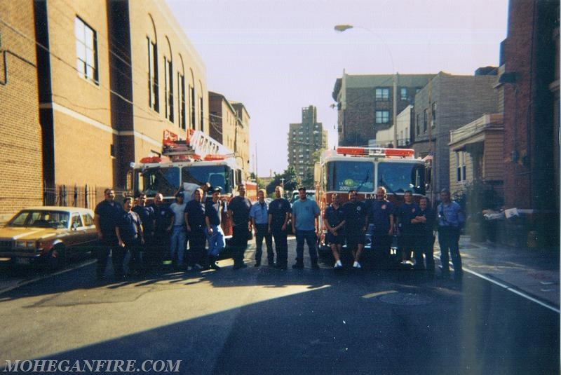 Mohegan Engine 258 Crew With FDNY Ladder 38 Crew