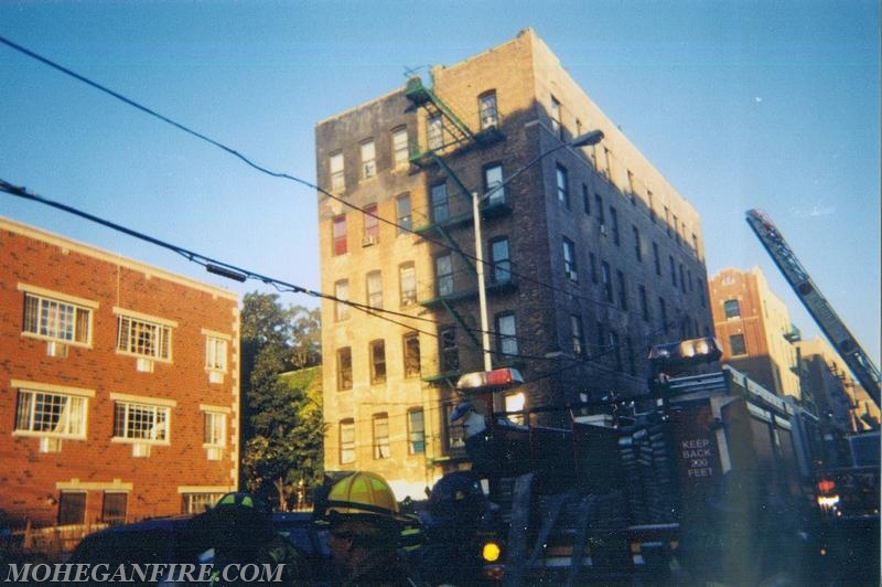 Mohegan Ave (Bronx) Apartment Fire On 9/13/01