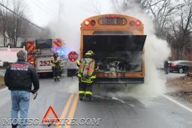 School Bus Fire On Locust Ave Mohegan Volunteer Fire