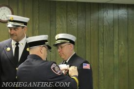 1st lieutenant Eric Hirsch/Car 2265 Badge Being Pinned By Chief Keesler