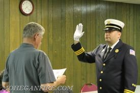 2nd Assistant Chief Chris Gravius/Car 2263 Being Sworn In By Fire Commissioner Chris Gravius (father)