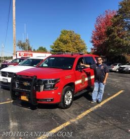 2nd Assistant Chief Chris Gravius Accepting Delivery Of His New Car 2263 On 10/19/17
