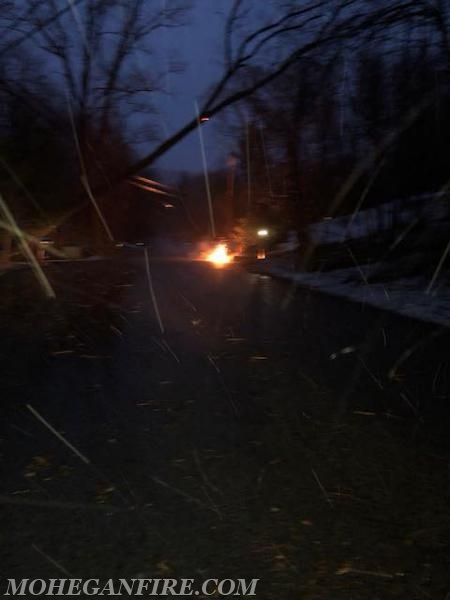 Fri. 3/2/18: Wires Down and Burning on Lakeview Ave West