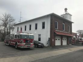 Somers FD Tower Ladder Standing By/Picture Courtesy of Somers FD